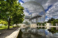 Widok biosfera w Montreal fotografia royalty free