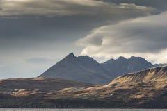 Widok Bla Beinn w Cuillin wzgórzach na wyspie Skye Fotografia Royalty Free