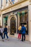 Widok bogaci więzi ulica w London obrazy royalty free