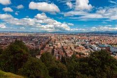 Widok Bogota, Kolumbia zdjęcie stock