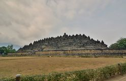 Widok Borobudur świątynia Magelang Środkowy Jawa Indonezja zdjęcia royalty free