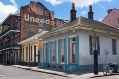 Widok bourbon ulica w dzielnicie francuskiej w mieście Nowy Orlean zdjęcie stock