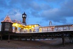 Widok Brighton molo przy zmierzchem Fotografia Stock