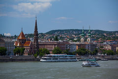 Widok Budapest na Danube Obrazy Stock