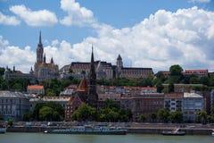 Widok Budapest na Danube Obrazy Royalty Free