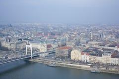 Widok Budapest od gellért wzgórza Fotografia Stock