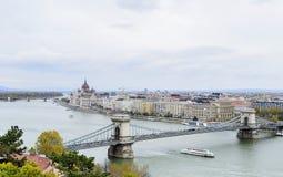 Widok Budapest od wzrosta Fotografia Royalty Free