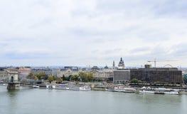 Widok Budapest od wzrosta Zdjęcie Stock