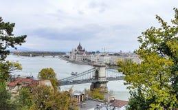Widok Budapest od wzrosta Zdjęcia Stock