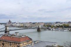 Widok Budapest od wzrosta Obraz Stock