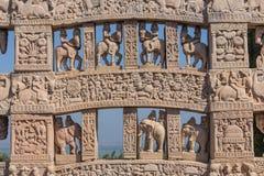 Widok buddhism świątynia w Sanchi, India/ obrazy royalty free
