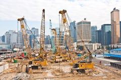 Widok budowy blisko Zdjęcie Royalty Free