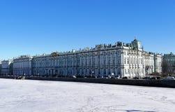 Widok budynek zima pałac obrazy stock