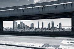 Widok budynki obramiający De FDR Jadący Fotografia Royalty Free