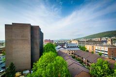 Widok budynki w w centrum czytaniu, Pennsylwania fotografia stock