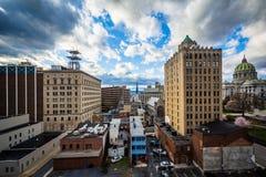 Widok budynki w w centrum Harrisburg, Pennsylwania obraz royalty free