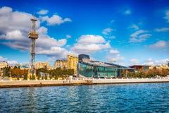 Widok bulwar w Baku mieście Zdjęcia Royalty Free