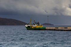 Widok burzowy morze Obraz Royalty Free