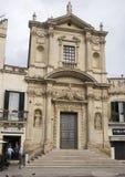 Widok całkowity przód kościół Santa Maria della Grazia, Lecka zdjęcie royalty free