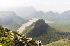 Widok cały Blyde jaru Rzeczny krajobraz, Południowa Afryka Zdjęcia Stock