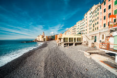 Widok Camogli Obraz Royalty Free