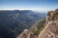 Widok Canion Fortaleza, Serra Geral park narodowy - Fotografia Royalty Free