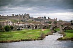 Widok Carcassonne w languedoc (Francja) Obrazy Stock