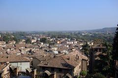 Widok castell'arquato zdjęcie royalty free