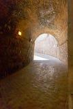 Widok Castillo De Montjuic na halnym Montjuic w Barcelona, fotografia stock