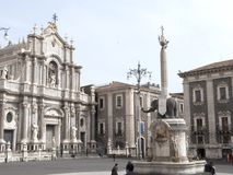 Widok Catania agata sant katedra Fotografia Royalty Free