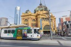 Widok celownicy ulicy stacja w Melbourne, Zdjęcie Stock