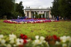 Widok centralne miasto parka wejście, Almaty, Kazachstan Fotografia Stock
