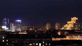 Widok centrum Dnipro miasto przy nocą Obraz Royalty Free