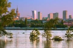 Widok centrum Warszawa Zdjęcie Royalty Free