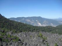 Widok Cerro Siete Orejas od Cerro losu angeles Muela w Quetzaltenango, Gwatemala 4 zdjęcia royalty free