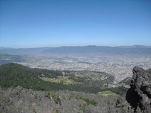Widok Cerro Siete Orejas od Cerro losu angeles Muela w Quetzaltenango, Gwatemala 5 obraz royalty free