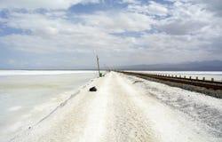 Widok Chaka Salt Lake Zdjęcia Stock