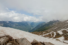 Widok Chamonix dolina od planu De L ` Aiguille Obraz Royalty Free