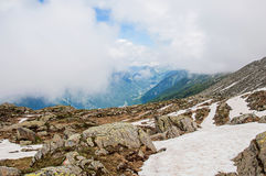 Widok Chamonix dolina od planu De L ` Aiguille Obraz Stock