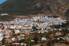 Widok Chefchaouen, Maroko Zdjęcie Stock