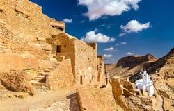 Widok Chenini, warowna Berber wioska w Południowym Tunezja Zdjęcie Royalty Free
