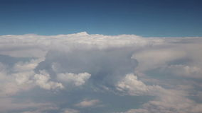 Widok chmury od samolotu zbiory wideo