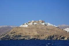 Widok Chora Astypalaia od łodzi, zdjęcia stock