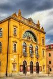 Widok Chorwacki teatr narodowy Zdjęcie Stock