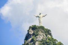 Widok Chrystus odkupiciel, Rio De Janeiro, Brazylia zdjęcia stock