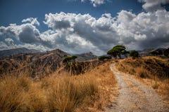 Widok cieśniny Messina (Włochy) zdjęcia royalty free
