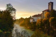 Widok Cividale Del Friuli, Włochy obraz stock