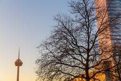 Widok Colonius wierza w Kolonia, Niemcy Fotografia Stock
