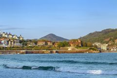 Widok Concha zatoka, San Sebastian, Hiszpania obraz stock