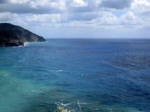 Widok corniglia wybrzeże, pięć ziemi Włochy a Fotografia Royalty Free